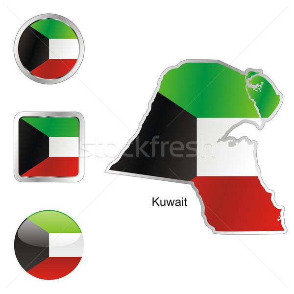 Kuweit hartă butoane de internet pavilion Imagine de stoc © PilgrimArtworks