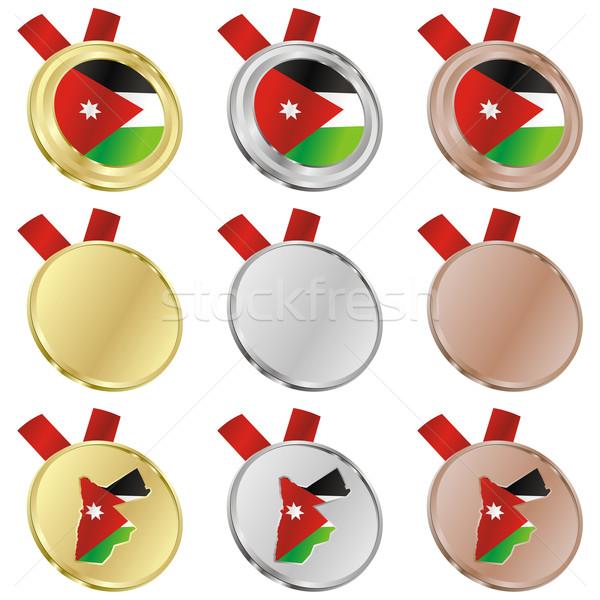 Jordanië vector vlag medaille Stockfoto © PilgrimArtworks