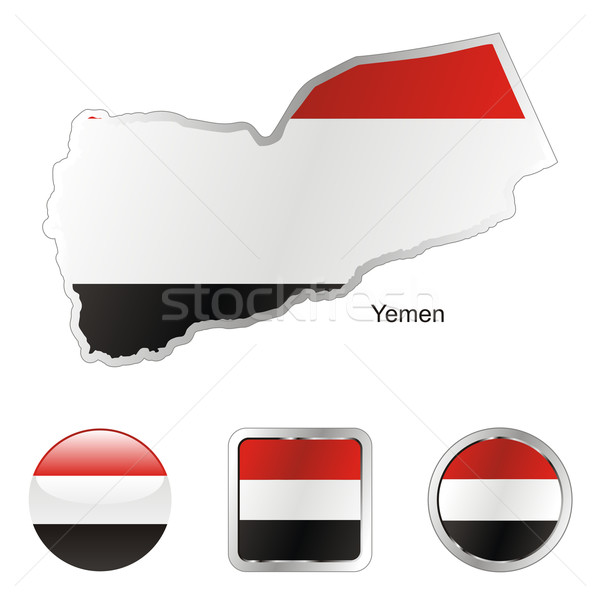yemen in map and internet buttons shape Stock photo © PilgrimArtworks