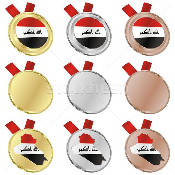 iraq vector flag in medal shapes Stock photo © PilgrimArtworks