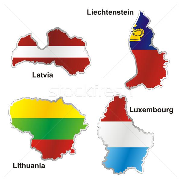 Stockfoto: Geïsoleerd · internationale · vlag · kaart · vorm