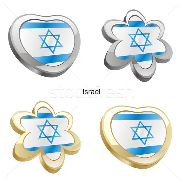 イスラエル フラグ 中心 花 ストックフォト © PilgrimArtworks