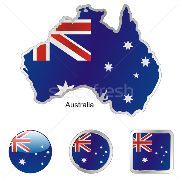 Australia mapa web botones formas Foto stock © PilgrimArtworks