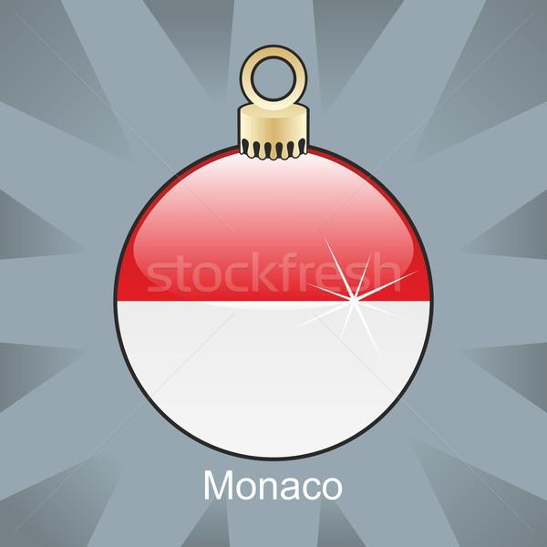 Geïsoleerd Monaco vlag christmas lamp vorm Stockfoto © PilgrimArtworks