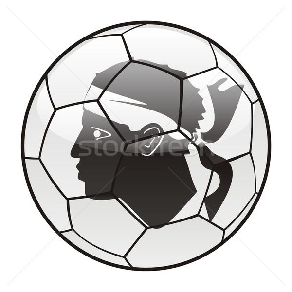 Corsica vlag voetbal voetbal sport voetbal Stockfoto © PilgrimArtworks