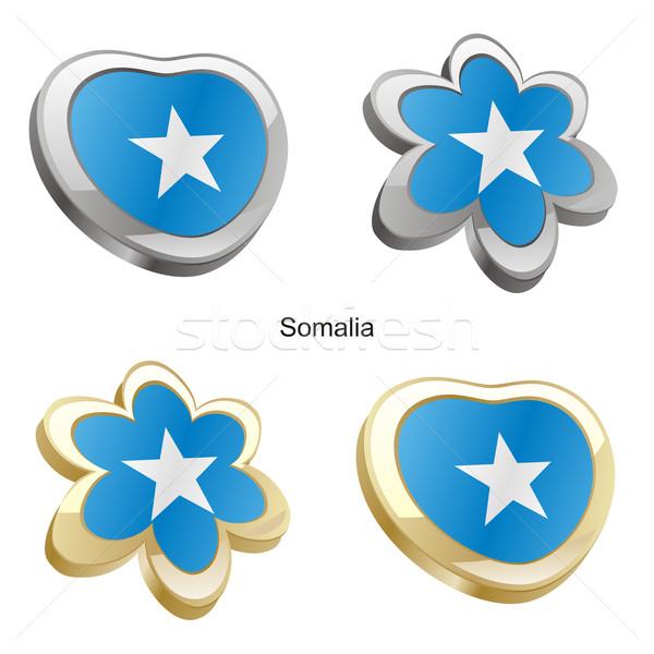 ソマリア フラグ 中心 花 ストックフォト © PilgrimArtworks