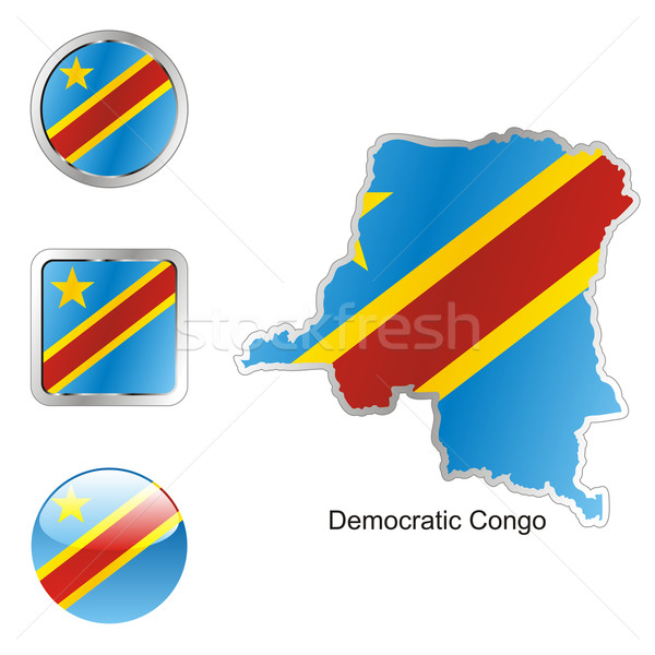 democratic congo in map and internet buttons shape Stock photo © PilgrimArtworks