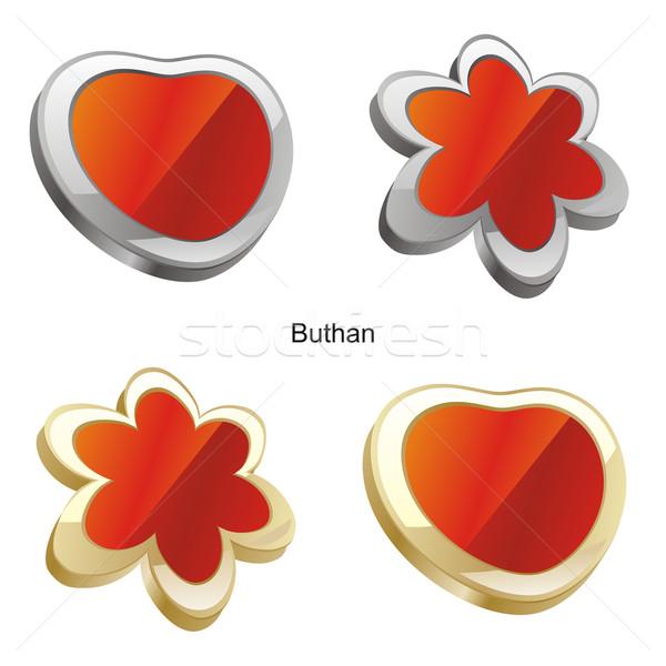 Bandera corazón flor forma color Foto stock © PilgrimArtworks