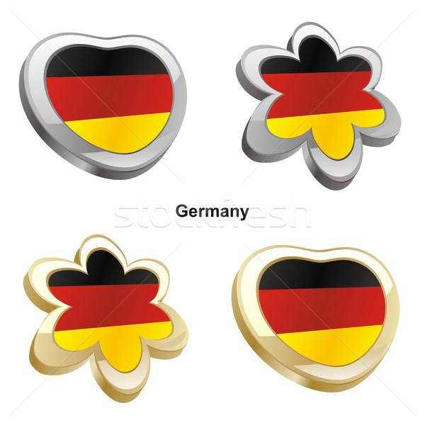 Duitsland vlag hart bloem vorm Stockfoto © PilgrimArtworks