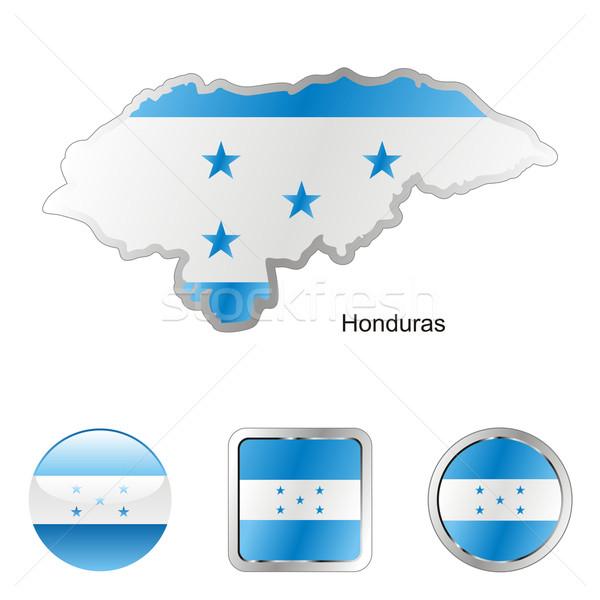Honduras mappa web pulsanti forme Foto d'archivio © PilgrimArtworks