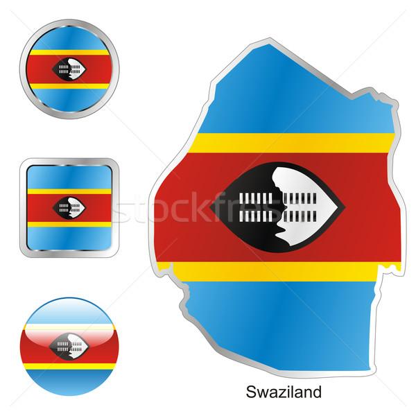 Swaziland kaart web knoppen Stockfoto © PilgrimArtworks