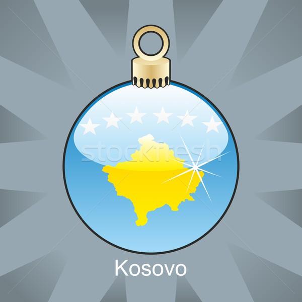 Isolado Kosovo bandeira natal bulbo forma Foto stock © PilgrimArtworks
