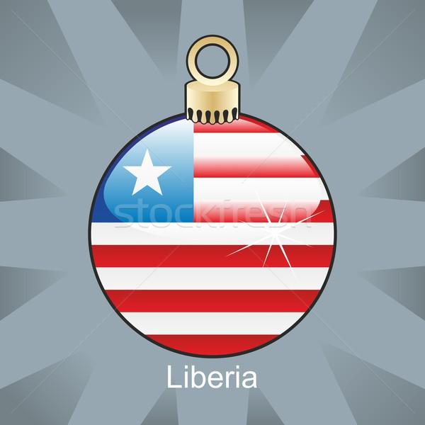 Isolado Libéria bandeira natal bulbo forma Foto stock © PilgrimArtworks
