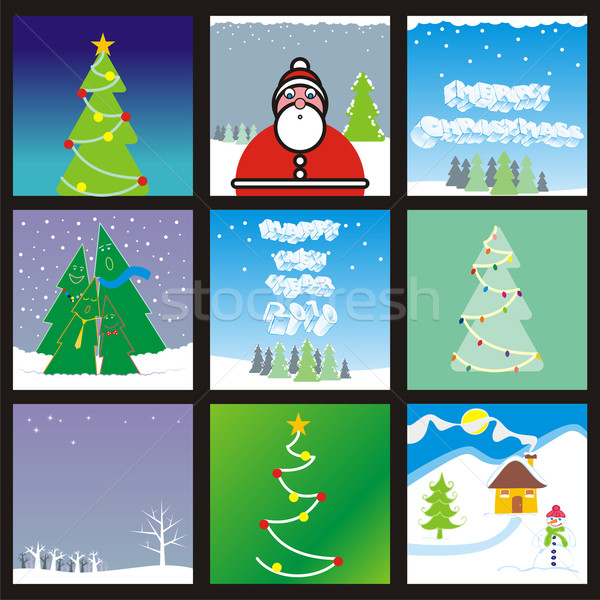 web banner with holidays layouts ready to use Stock photo © PilgrimArtworks