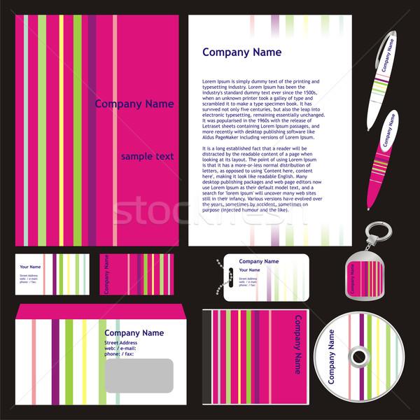 Negócio templates vetor conjunto pronto Foto stock © PilgrimArtworks