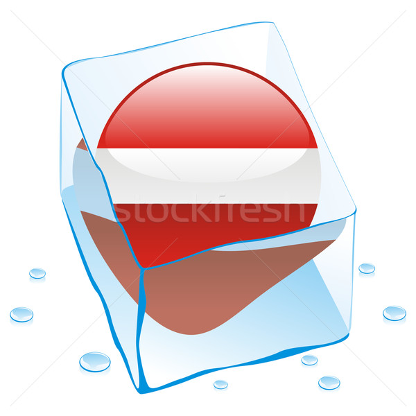 Латвия кнопки флаг заморожены Ice Cube Сток-фото © PilgrimArtworks