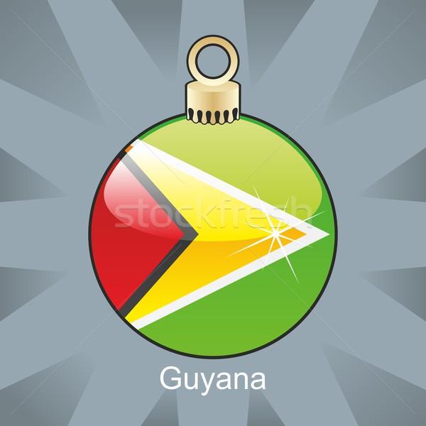 Stockfoto: Geïsoleerd · Guyana · vlag · christmas · lamp · vorm