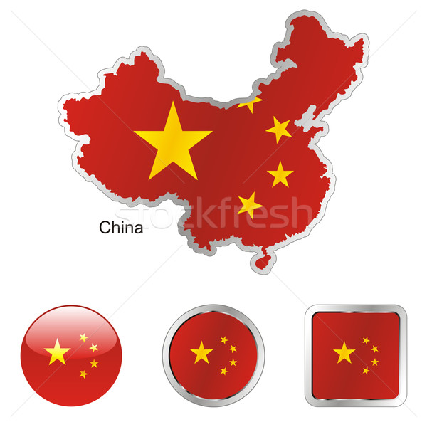 china in map and internet buttons shape Stock photo © PilgrimArtworks