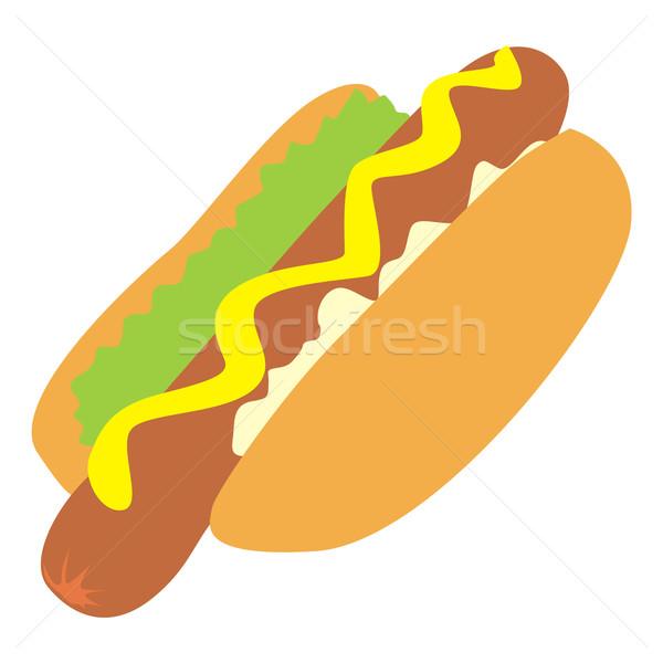 isolated hot-dog Stock photo © PilgrimArtworks