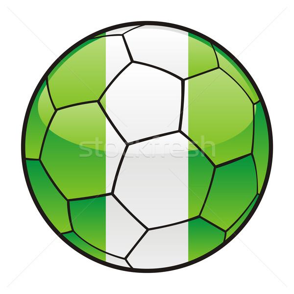 Nigéria bandeira futebol futebol esportes Foto stock © PilgrimArtworks