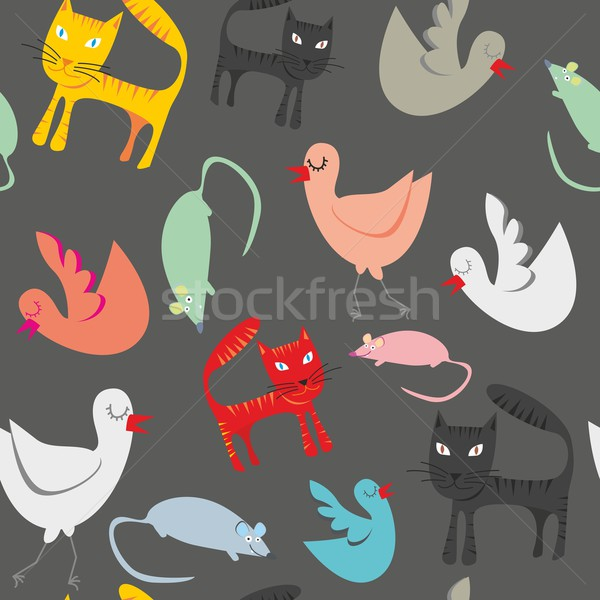 seamless pattern isolated funny animals Stock photo © PilgrimArtworks