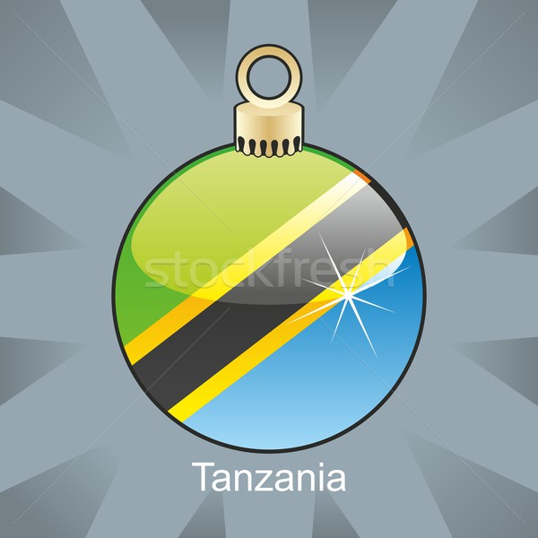 изолированный Танзания флаг Рождества лампа форма Сток-фото © PilgrimArtworks