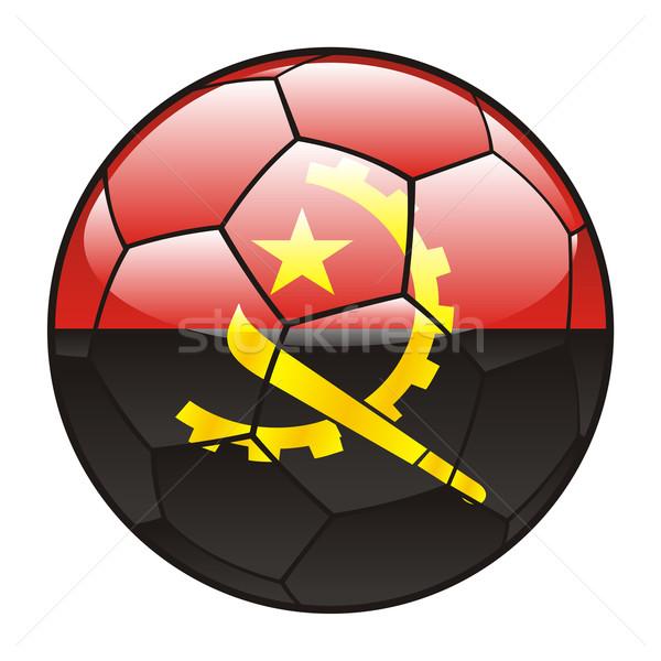 Ангола флаг футбольным мячом Футбол футбола Сток-фото © PilgrimArtworks