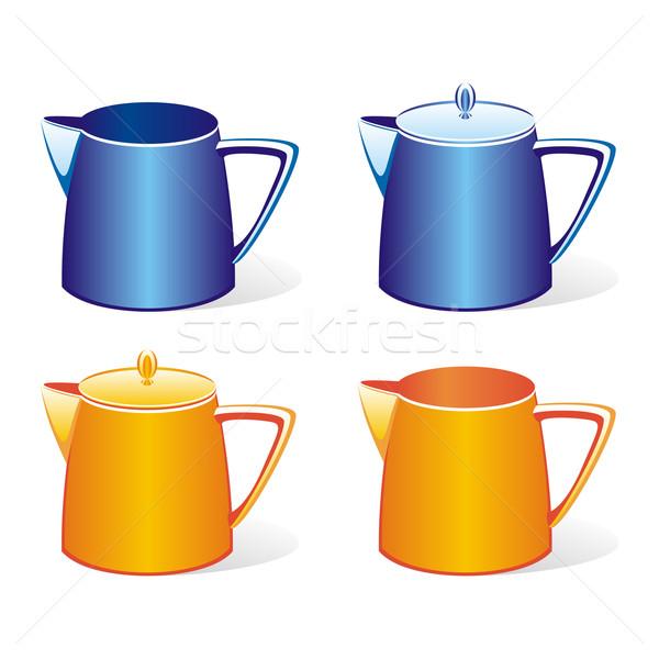 Isolato colorato latte set Foto d'archivio © PilgrimArtworks