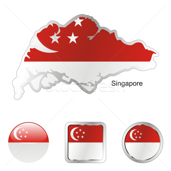 singapore in map and internet buttons shape Stock photo © PilgrimArtworks