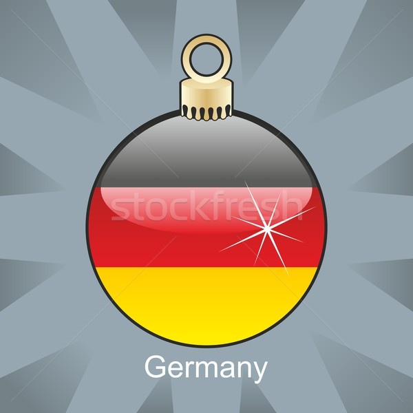 Stockfoto: Geïsoleerd · Duitsland · vlag · christmas · lamp · vorm