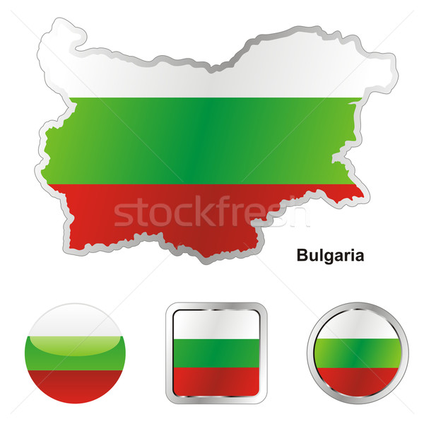 флаг Болгария карта веб Кнопки Сток-фото © PilgrimArtworks