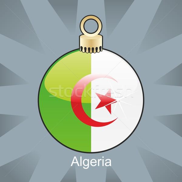 Argelia bandera Navidad bombilla forma Foto stock © PilgrimArtworks