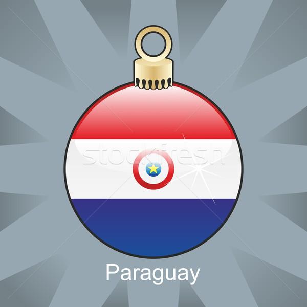 Odizolowany Paragwaj banderą christmas żarówki Zdjęcia stock © PilgrimArtworks