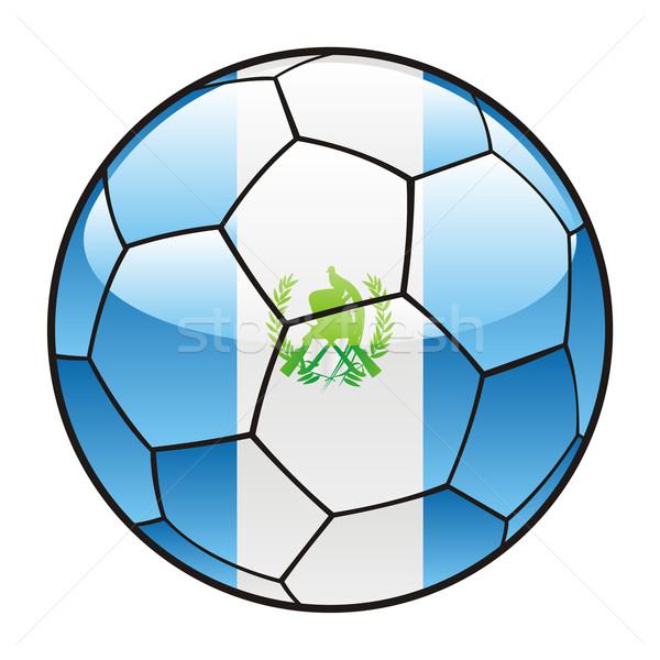 Гватемала флаг футбольным мячом Футбол спорт Сток-фото © PilgrimArtworks