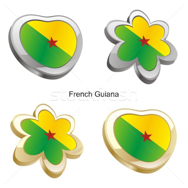 Frans vlag hart bloem vorm Stockfoto © PilgrimArtworks
