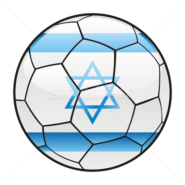 Israel flag on soccer ball Stock photo © PilgrimArtworks