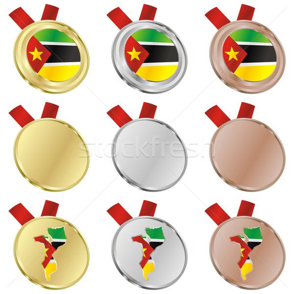 mozambique vector flag in medal shapes Stock photo © PilgrimArtworks