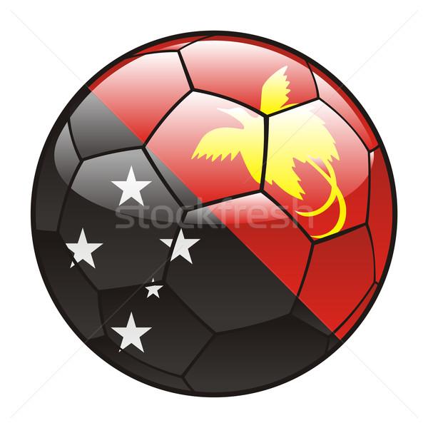 Папуа-Новая Гвинея флаг футбольным мячом Футбол объект Сток-фото © PilgrimArtworks