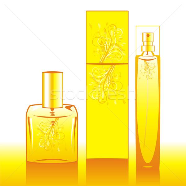 Aislado perfume botellas amarillo moda Foto stock © PilgrimArtworks