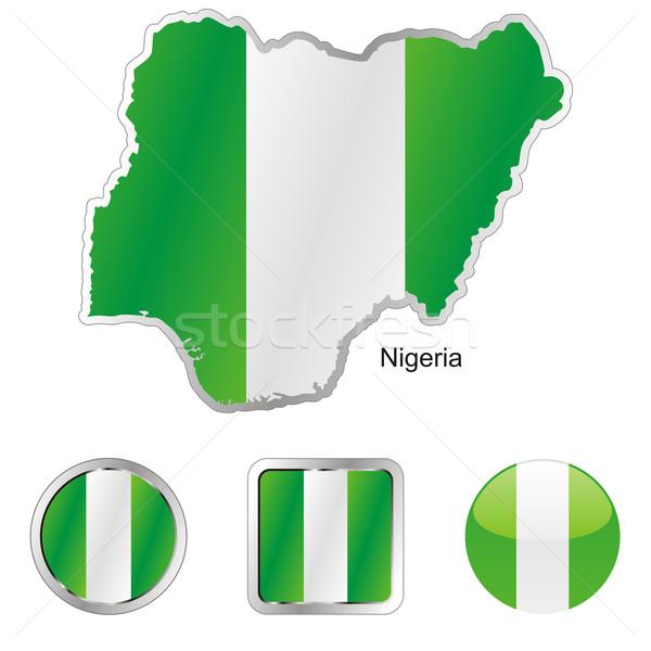 Нигерия карта веб Кнопки Сток-фото © PilgrimArtworks