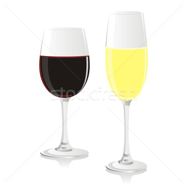 孤立した シャンパン ワイングラス パーティ ワイン ストックフォト © PilgrimArtworks