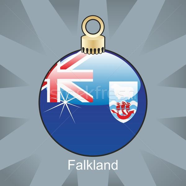 isolated falkland flag in christmas bulb shape Stock photo © PilgrimArtworks