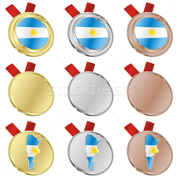 argentina vector flag in medal shapes Stock photo © PilgrimArtworks
