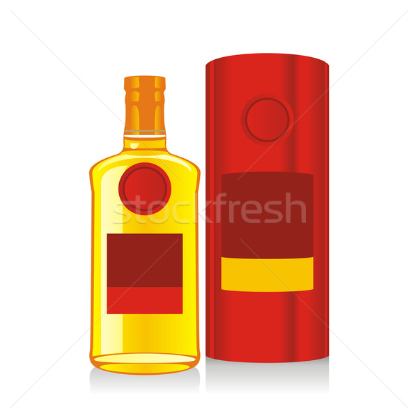 isolated whiskey bottle and box Stock photo © PilgrimArtworks