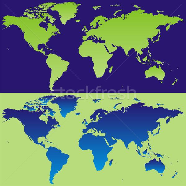 ベクトル 世界地図 細部 準備 世界 ストックフォト © PilgrimArtworks