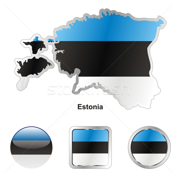 estonia in map and web buttons shapes Stock photo © PilgrimArtworks