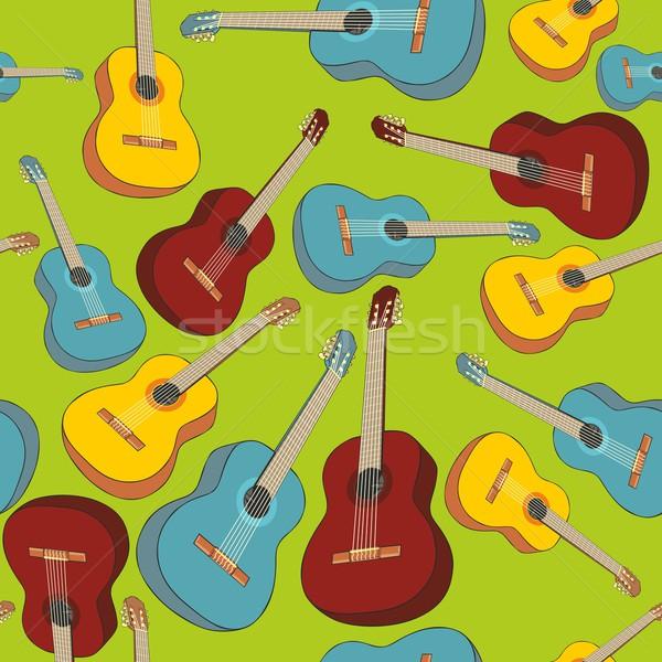 Minta vektor zene gitár háttér Stock fotó © PilgrimArtworks