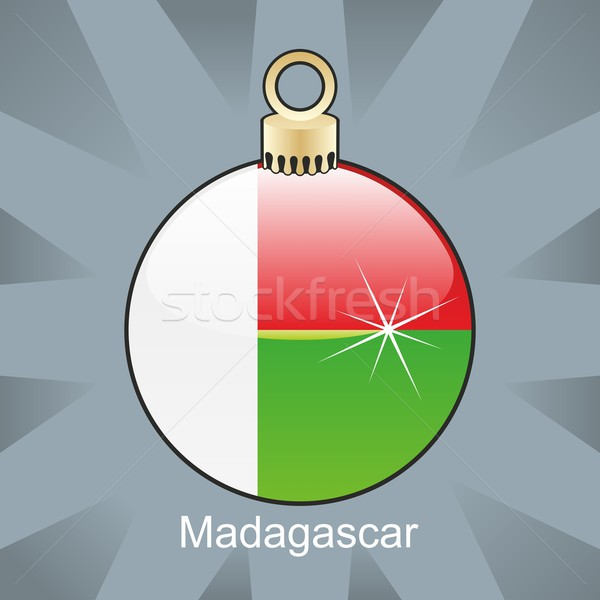 isolated madagascar flag in christmas bulb shape Stock photo © PilgrimArtworks
