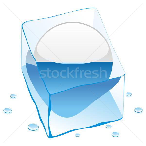 サン·マリノ ボタン フラグ 凍結 アイスキューブ ストックフォト © PilgrimArtworks