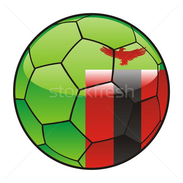 Zambiya bayrak futbol topu futbol spor futbol Stok fotoğraf © PilgrimArtworks